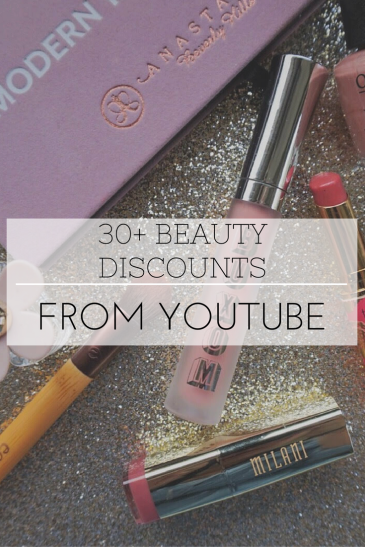 makeup coupon beauty discount list youtube affiliate lists
