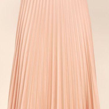 Lulu's Blush Pink Midi Skirt