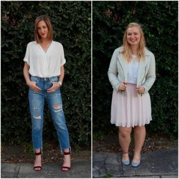 Valentine's Date style outfit inspiration casual chic and feminine sweet.