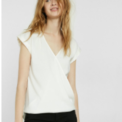 Express White Silk Blouse