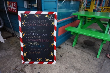 flavor menu, ice cream, ice roll, New Orleans