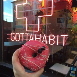 donut at habit donuts denver