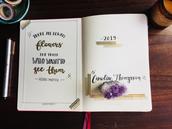 Bullet Journal Inspirational Quote in Hand Lettering
