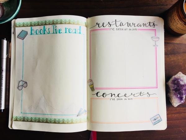 Books I've Read Bullet Journal Tracker