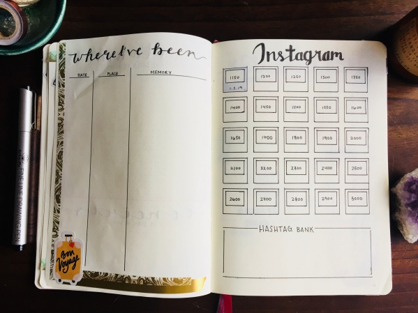 Bullet Journal Instagram Tracker