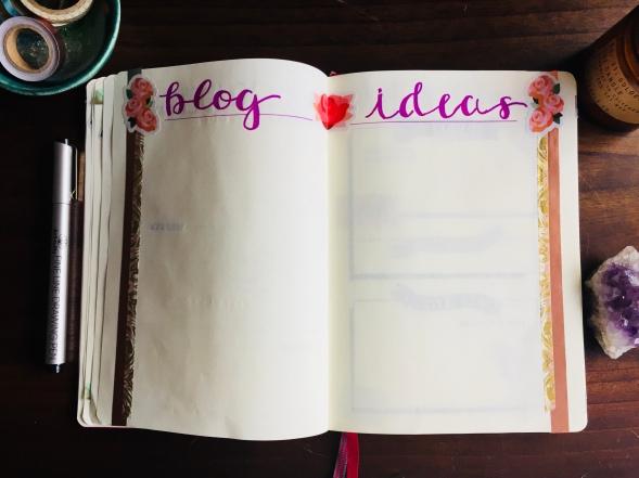 Blog Ideas in Bullet Journal