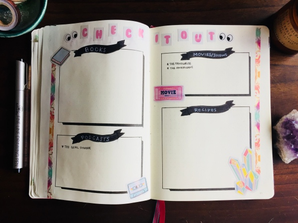 Check it Out Bullet Journal Spread