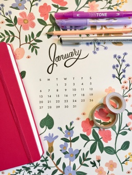 january calendar rifle paper co new year's resolutions